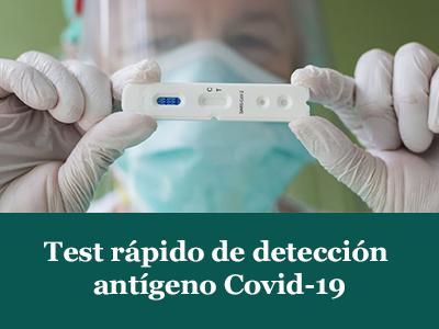 Test rápido de detección antigeno sars-Cov-2
